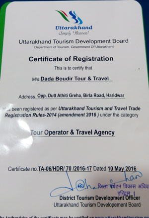 Approved Travel Agent in Haridwar for Chardham Yatra