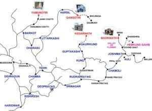 Char Dham Yatra Route Map